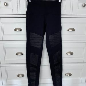 Alo High-Waist Moto Legging - Black Size S